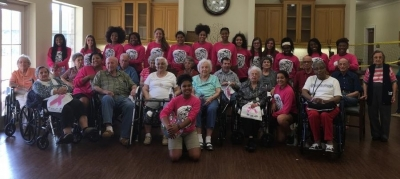 Lady Wildcats Serve Up Some Fun with LaCour House Residents