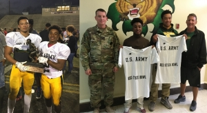 LHS Seniors Tolliver Tripeaux and Derrick Wells, 2016 US Army Red Stick Bowl MVP