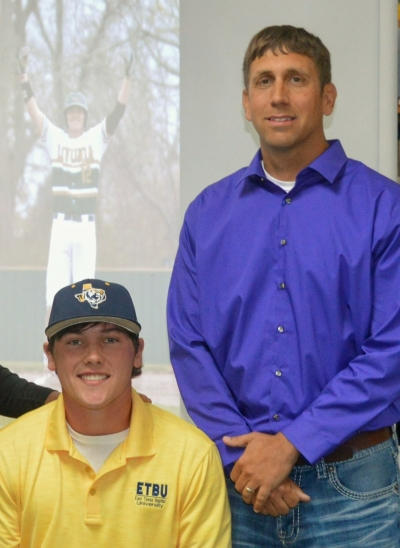 Trevor Jarreau and Coach Jason Lemoine