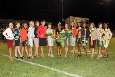 2017 Homecoming Court with Queen Dyamond Richardson