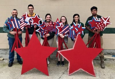 Livonia High School Welding and Carpentry Departments Fabricate Yard Decorations for Veterans